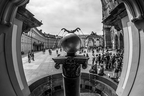 Fountain, Prague castle by Zdenek Papes
