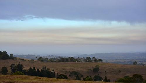 morning cloud countryside day cloudy smoke earlymorning overcast australia drought nsw australianlandscape hillsides ruralaustralia northernrivers rurallandscape smokysky bushfiresmoke morninglandscape australianweather wilsonsrivervalley