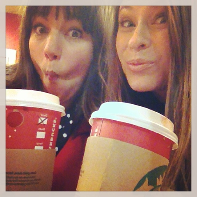 Peppermint Mocha! Coffee @Tessaugustine and I cans free in! #nerdalert