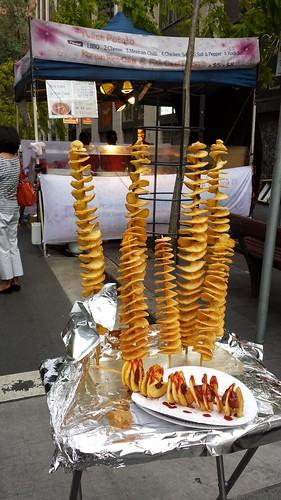 Chinatown Night Market: Spiral Potato On A Stick