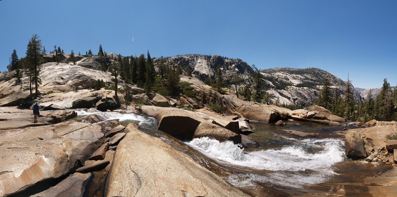 Some of the smaller falls and rapids between LeConte Falls and California Falls on the Tuolumne River