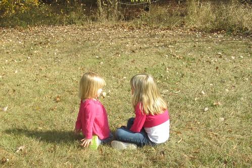 sister sharing secrets