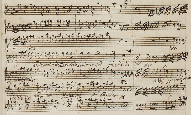 Music manuscripts from the 17th and 18th centuries in the