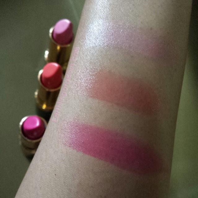 Revlon Super Lustruous Lipstick swatches