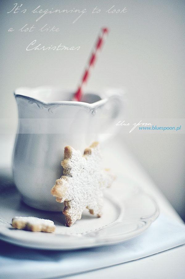 ciastka sniezynki - przepis i zdjecia blue spoon