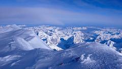 Widok ze szczytu Mount Mckinley (6149m) na płn.- wsch.