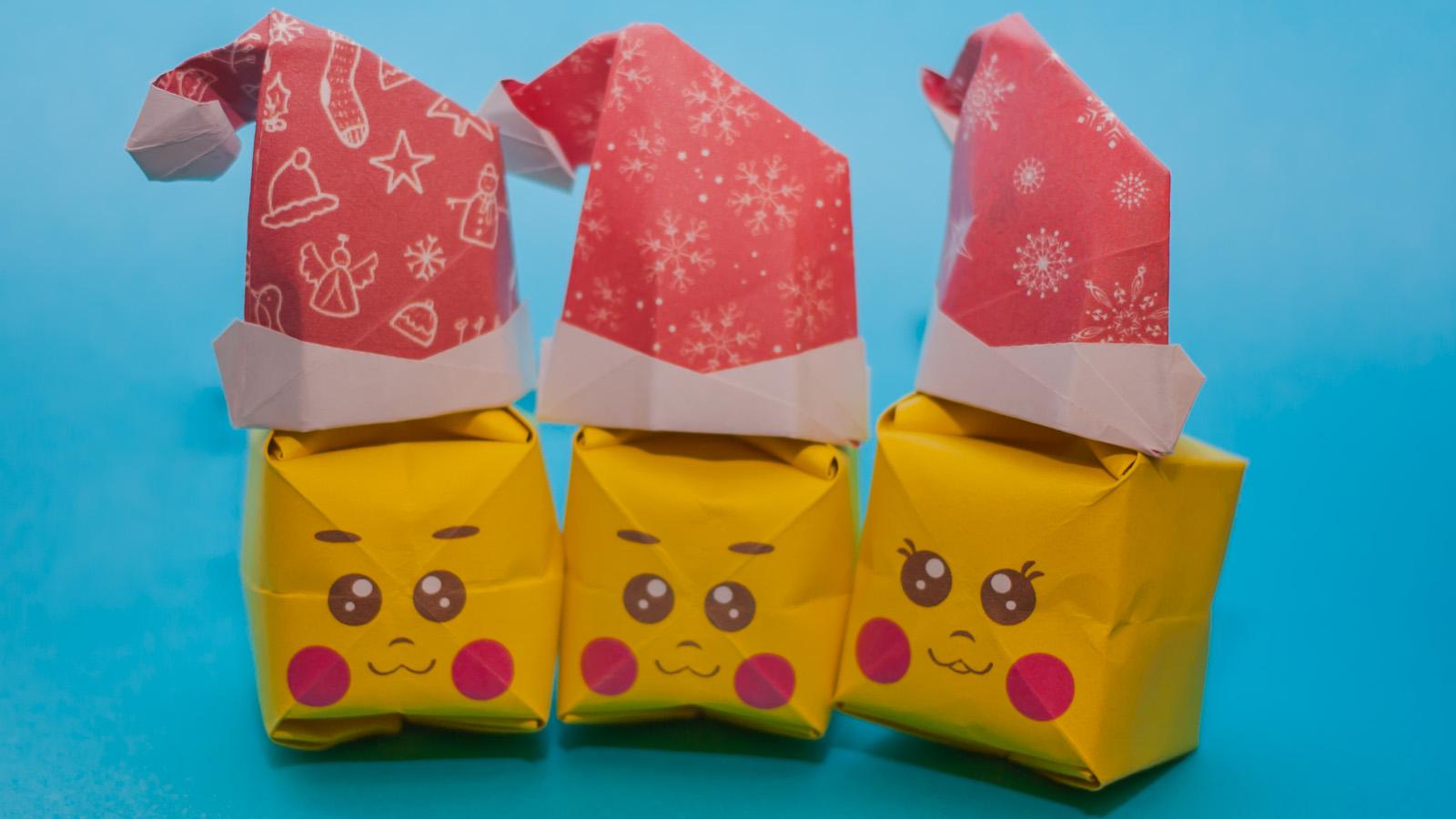 พับกระดาษเป็นรูปแก๊งค์คริสต์มาสปิกาจู