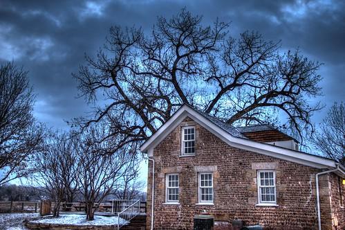 Bear Creek Stone House at Winter