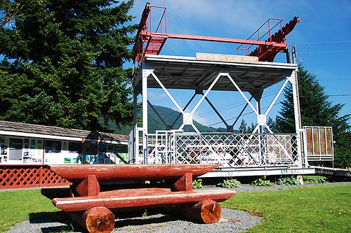 Old North Bend Aerial Ferry at Boston Bar, Fraser Canyon, British Columbia, Canada