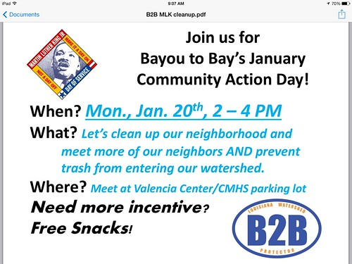 B2B Volunteer Clean-up, MLK Day by trudeau