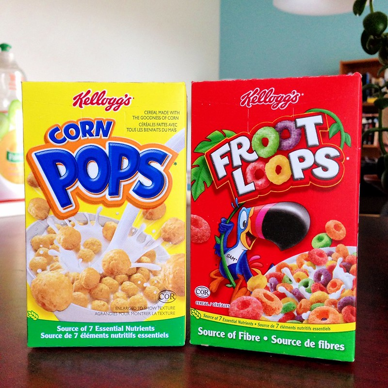 Corn Pops and Froot Loops in watered down coffee cream 1