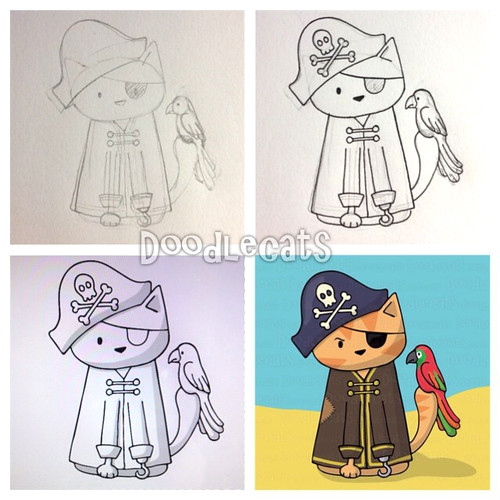 Making of pirate cat - Doodlecats