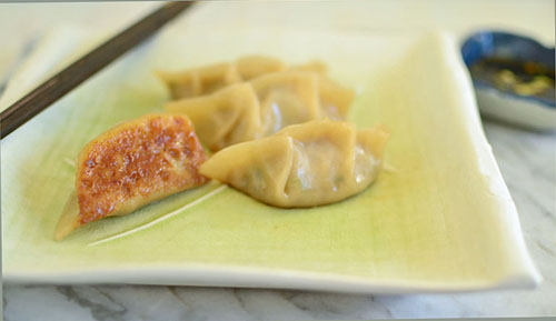 Simple Shrimp and Pork Pot-Stickers via LittleFerraroKitchen.com