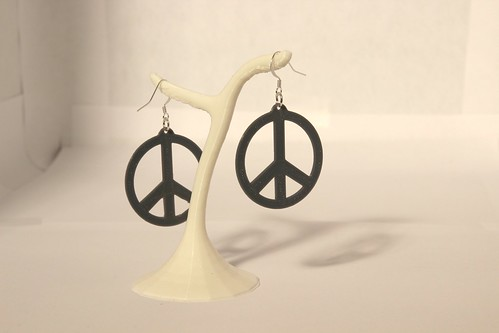 Peace and love earings