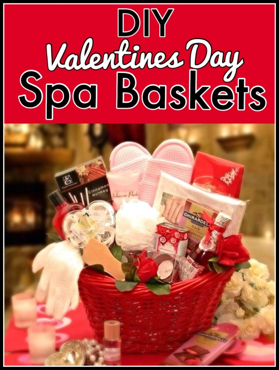 valentines day spa baskets diy tips and ideas - Valentines Day Spa