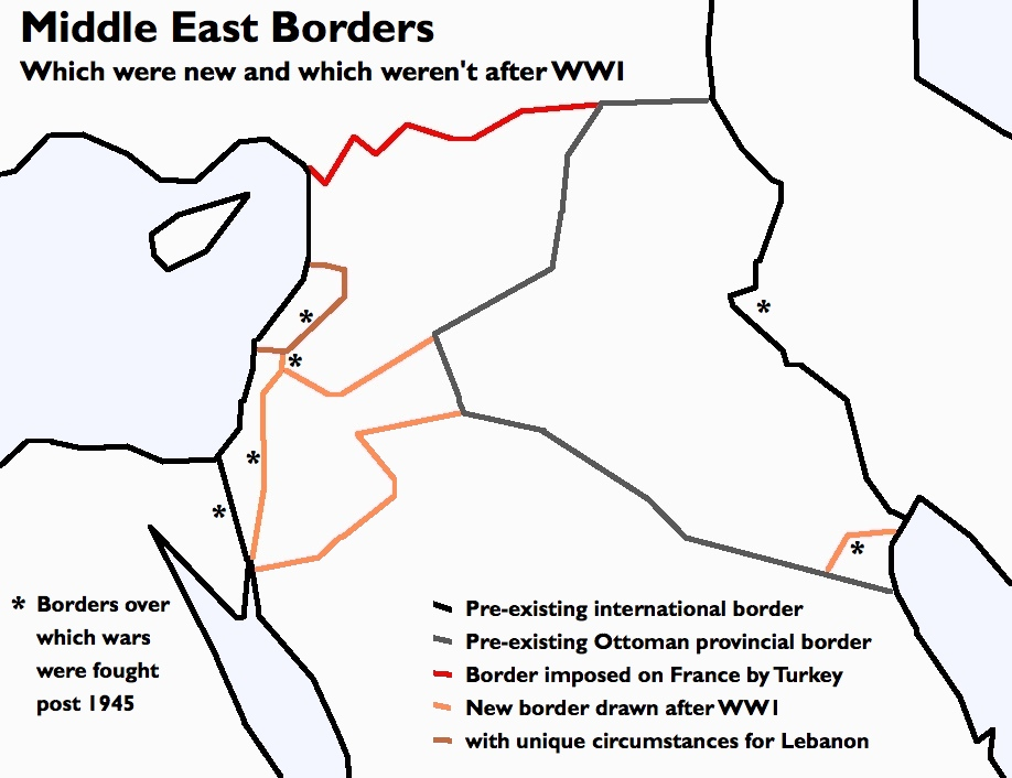 Afternoon Map: Another look at Middle East Borders