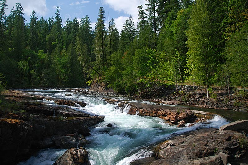 Stamp River Falls, Stamp River Provincial Park, Port Alberni, Vancouver Island, British Columbia, Canada