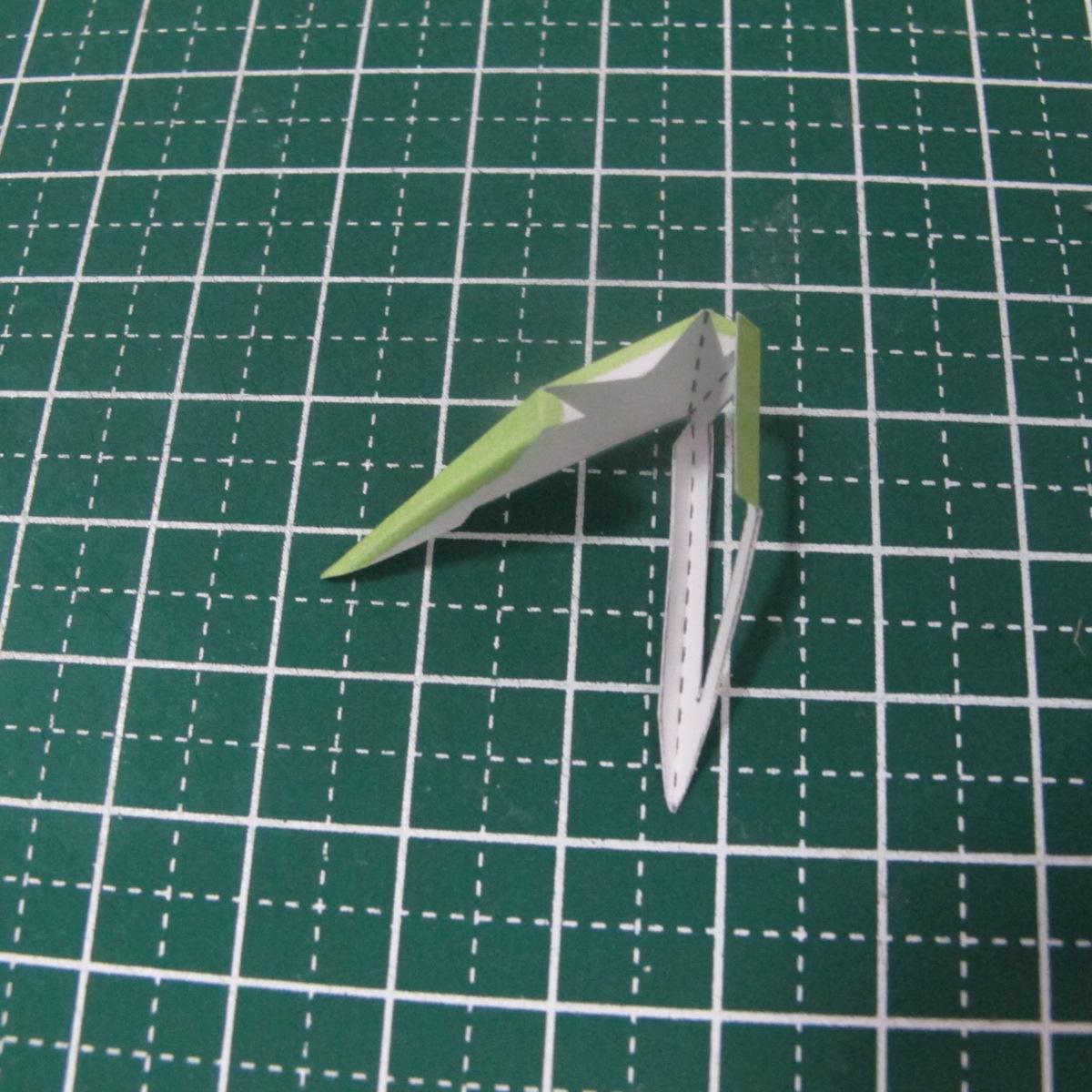 วิธีทำของเล่นโมเดลกระดาษรูปนก (Bird Paper craft ) 002