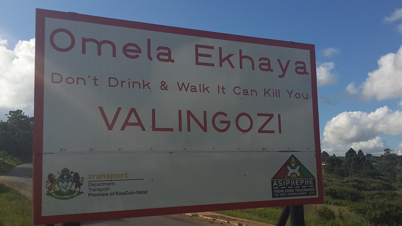 Road sign in Kwazulu Natal