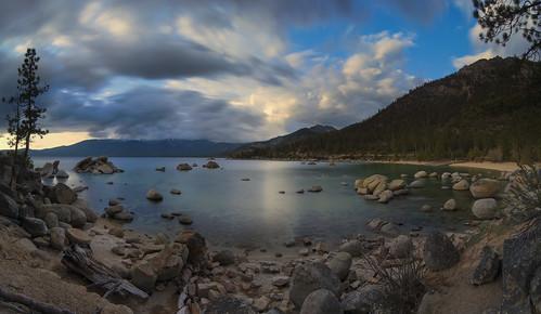 california mountain beach clouds tahoe laketahoe shore alpinelake