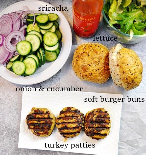 Satay Turkey Burgers | www.fussfreecooking.com