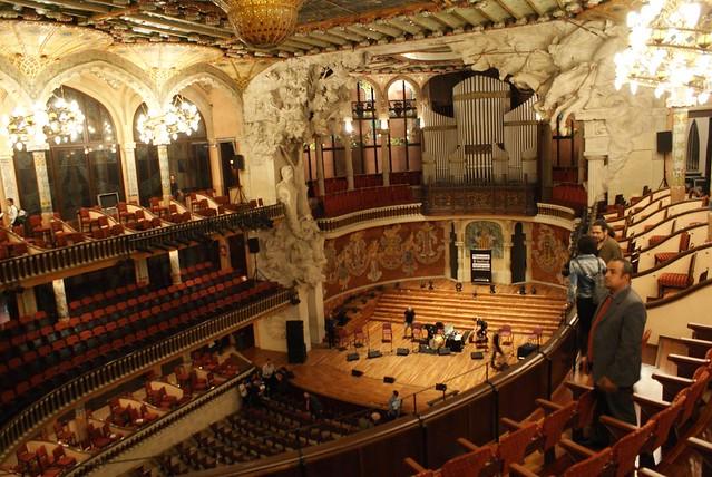 Palau de la musica, chef d'oeuvre art nouveau.