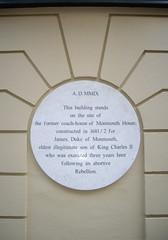 Photo of James Scott white plaque