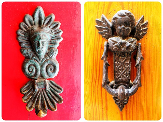 Door knockers in Mdina Malta