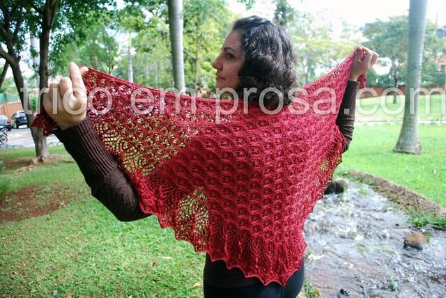 trico em prosa - um manto de flores - xale Echo Flower