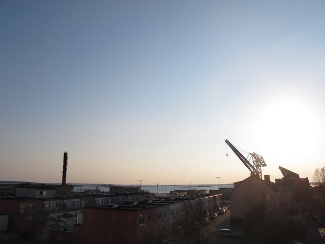 view from grandma's, easter eve, karlskrona