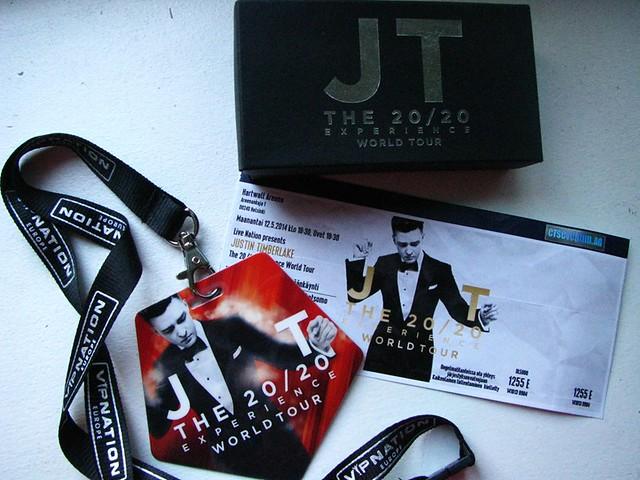 Justin Timberlake VIP, Ticket, present