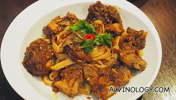 Ba Chor Mee Pasta (S$25.90) - Chef Shen's signature five-spice pork paired with silken handmade tagliatelle that is tossed in a spicy piquant sauce reminiscent of local favourite, Bak Chor Mee