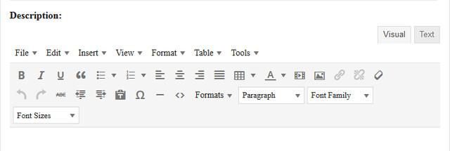 Text-Editor-Bar-Section