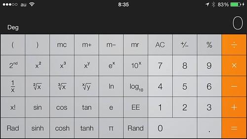 iPhone関数電卓