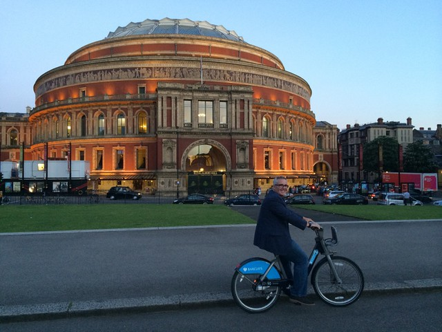 Bike ride at dusk - Royal Albert Hall