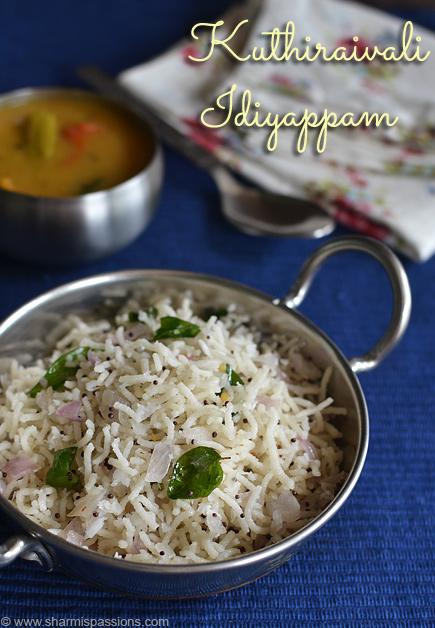 Kuthiraivali Idiyappam Recipe