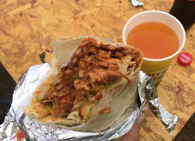 Burrito from Carlito Burrito (& a Cider)