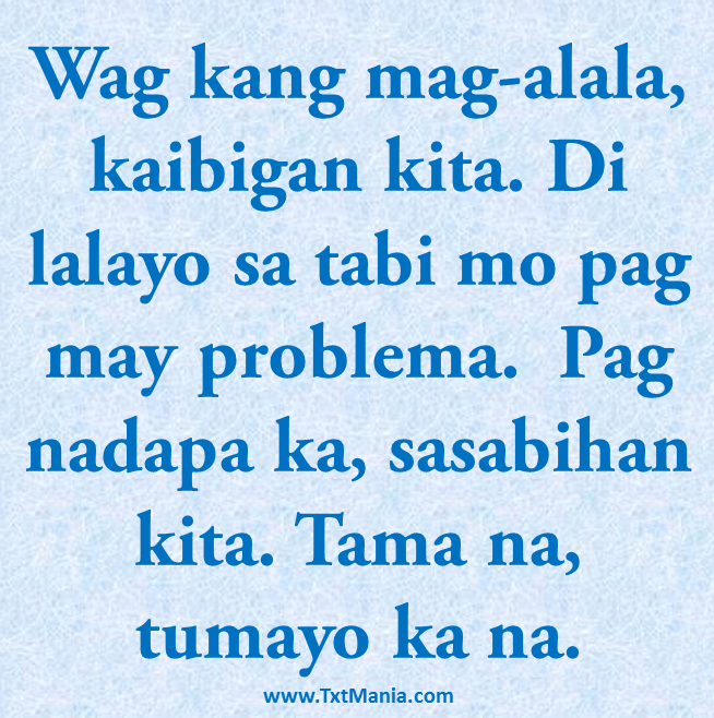 Pinoy text messages txtmania tagalog quotes and greetings m4hsunfo