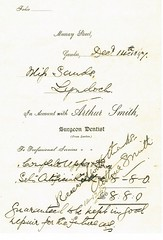 Arthur Smith original account and letter to patient 1897