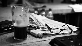 Irish pub - Dublin, Ireland - Black and white photography