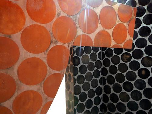 The original polka dot sculpture in Bilbao, Spain