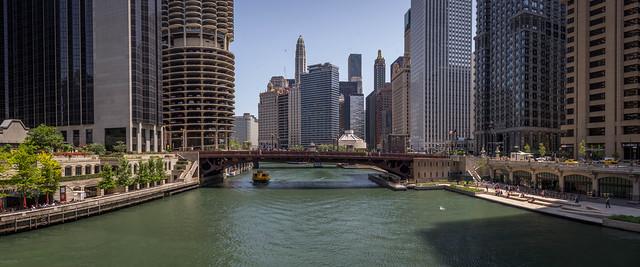 Chicago River from LaSalle Bridge