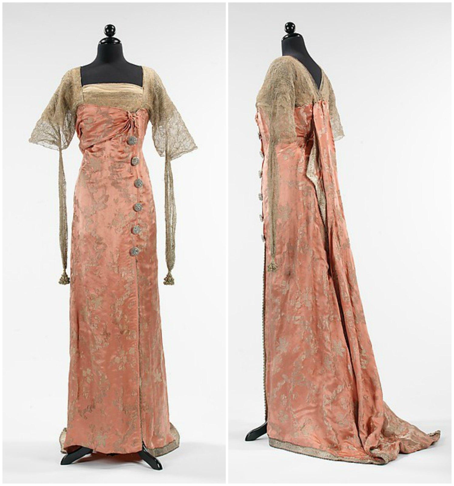 1914 Callot Soeurs. Silk, metal, rhinestones