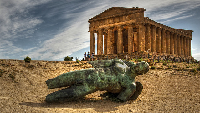 Igor Mitoraj, Icarus fell, Agrigento