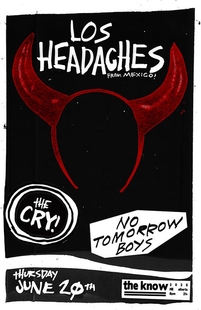 6/20/13 LosHeadaches/TheCry/NoTomorrowBoys