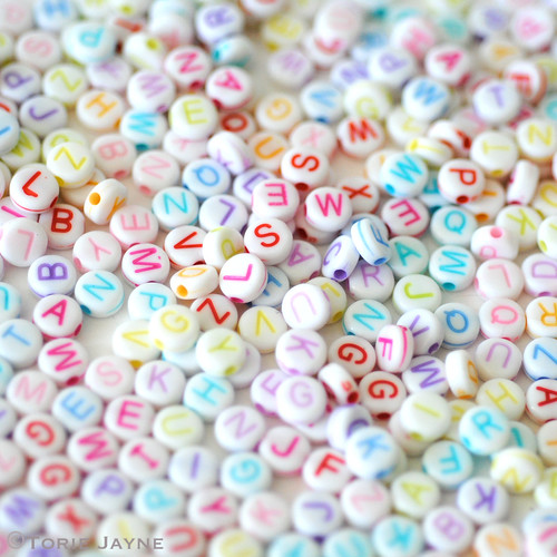 Pastel Alpha Beads