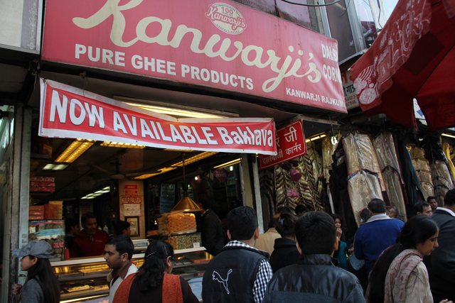 From Chandni Chowk, you can head into the alley at Kanwarji's sweets shop