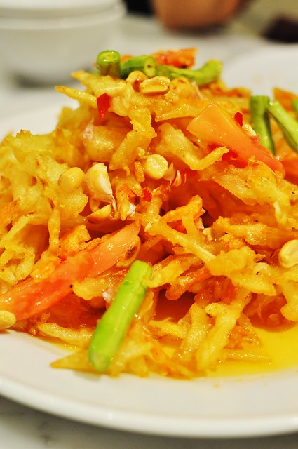 fried papaya salad