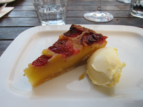 al fresco dining - strawberry frangipane