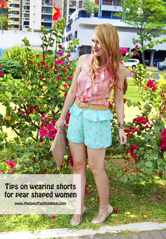 Tips on Wearing Shorts for pear shaped